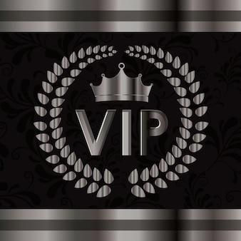 Design vip, ilustração vetorial.
