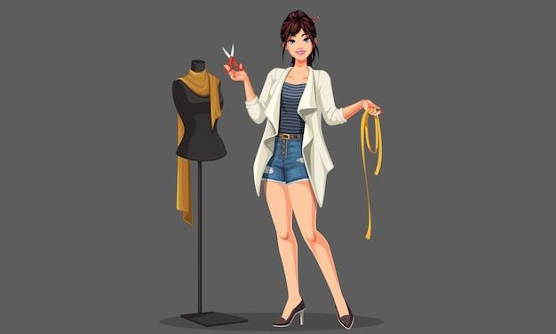 Designer de moda com manequim