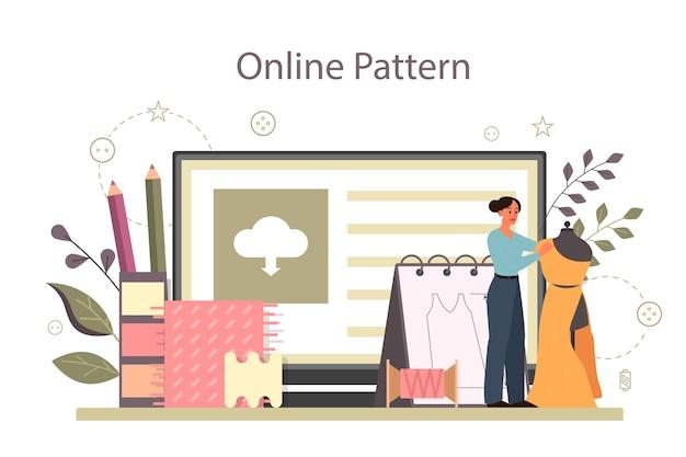 Designer de moda ou serviço ou plataforma online sob medida
