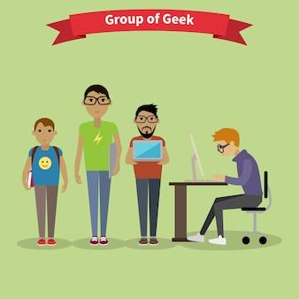 Designers equipe pessoas grupo estilo simples