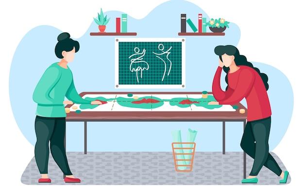 Designers estão jogando um jogo de tabuleiro