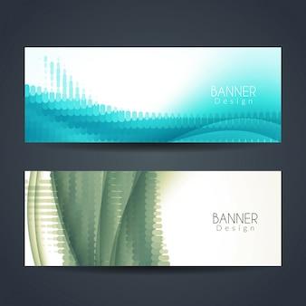 Designs de banner elegantes e modernos
