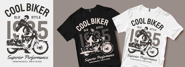 Designs legais de camisetas de motociclista