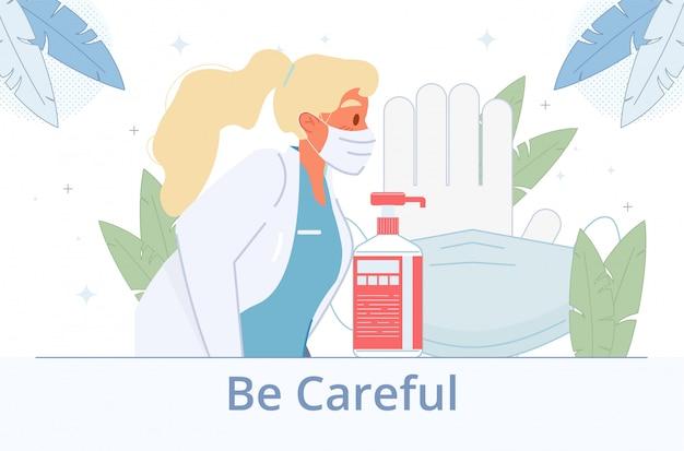 Desinfecção da proteção sanitária contra doenças virais