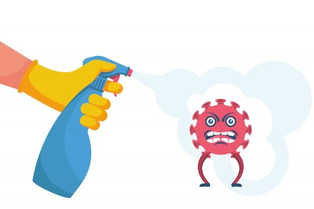 Desinfecção de coronavírus. pare 2019-ncov.