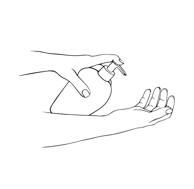 Desinfecção de sabonete para mãos