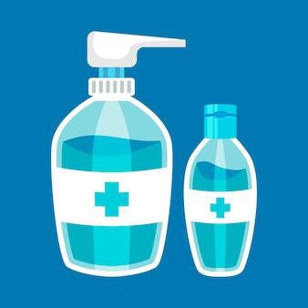 Desinfetante para as mãos de design plano