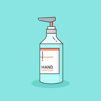 Desinfetante para as mãos, design plano de vetor