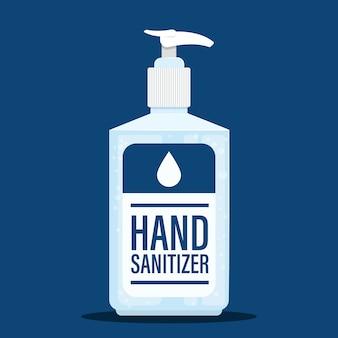 Desinfetante para gel de lavagem das mãos de design plano