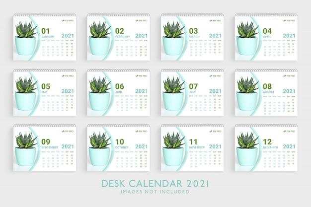 Desk calendar 2021 template premium