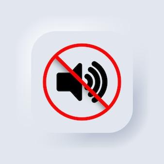 Desligue o volume ou sinal de modo mudo para smartphone. modo silencioso de smartphone. vetor. sinal dinâmico. um símbolo de paz e tranquilidade, uma chamada para desligar os aparelhos. ícone do alto-falante.