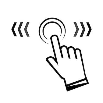 Deslize para cima. sinal de furto de mão em um estilo linear. ícone de vetor de toque de dedo. deslize para a direita ou esquerda. clique aqui ícone. toque o dedo aqui. ver mais ícone, pictograma de rolagem