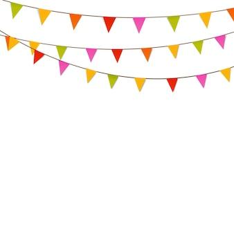 Desossar bandeiras em fundo branco, ilustração de eps10