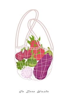 Desperdício zero por não usar uma ilustração de saco plástico.