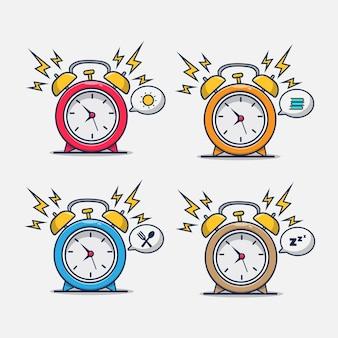 Despertador com uma variedade de condições