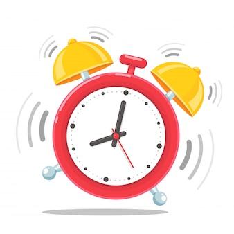 Despertador. despertador que soa alto de manhã para acordar da cama.