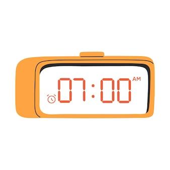 Despertador digital led ilustração cor amarela