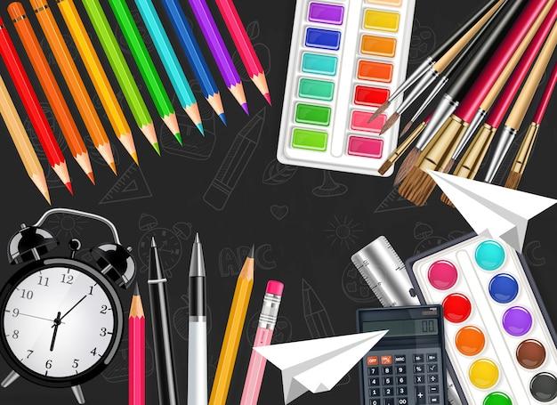 Despertador e ferramentas de desenho