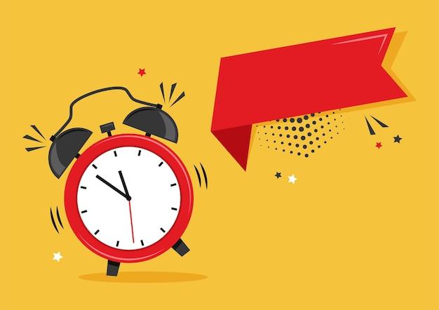 Despertador e fita de desenho animado