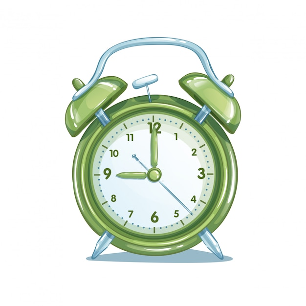 Despertador escolar verde