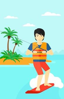 Desportista profissional de wakeboard