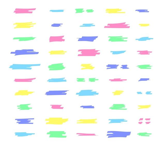 Destacar linhas de pincel destacar traços de marcador