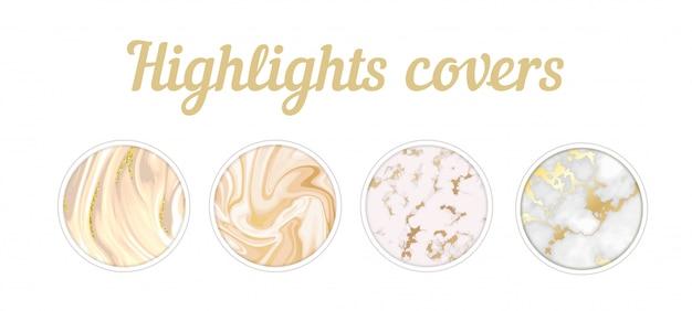 Destaques cobre conjunto de mármore dourado