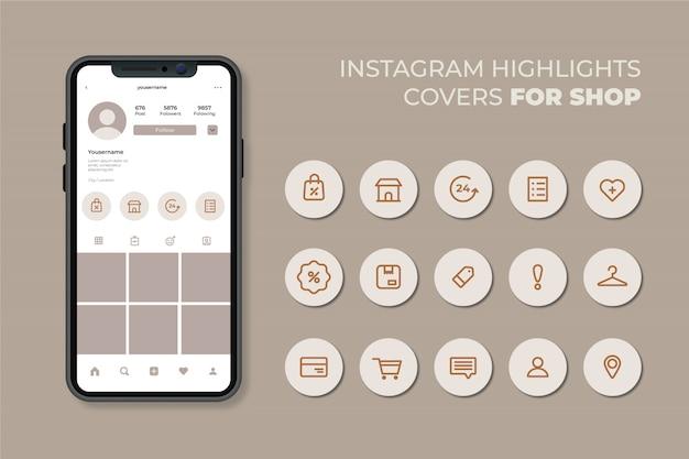 Destaques das histórias do instagram