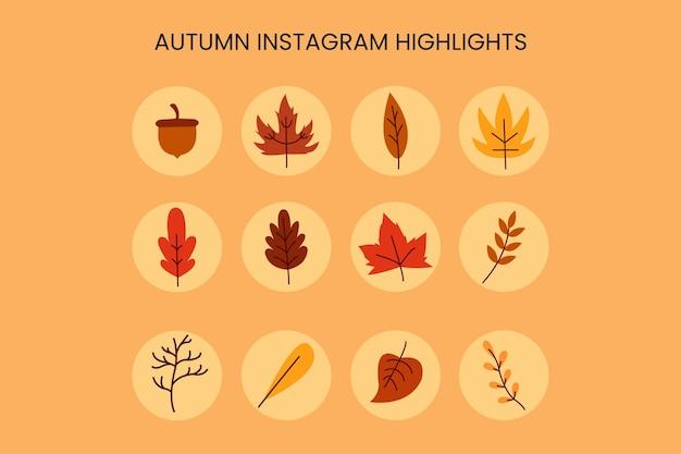 Destaques do instagram de outono