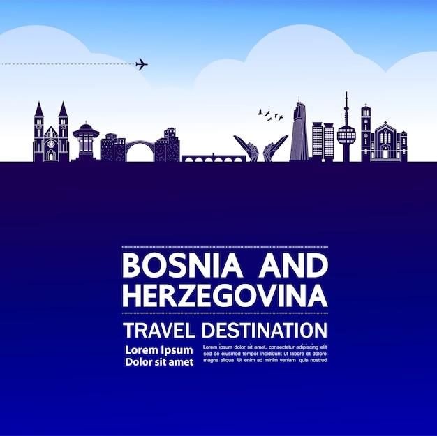 Destino de viagem da bósnia e herzegovina.