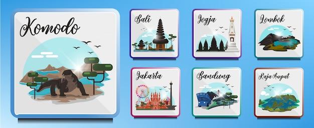Destinos turísticos na indonésia