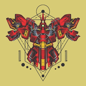 Destruidor robô geometria sagrada