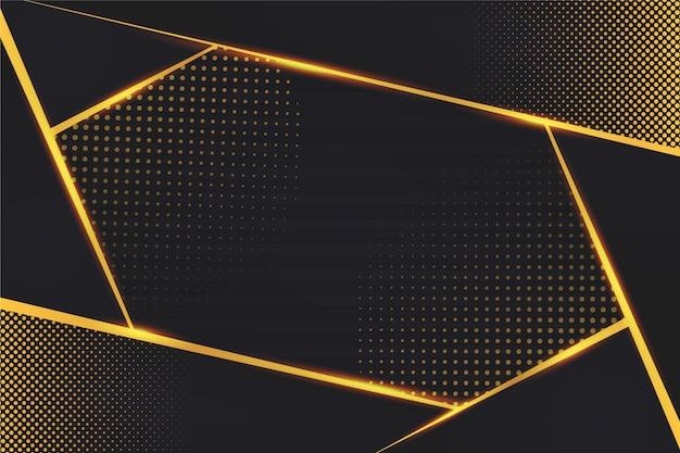 Desvanecimento de pontos e linhas dourados fundo escuro