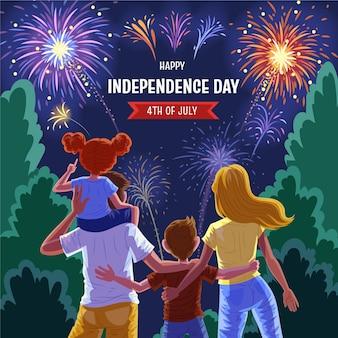 Detalhado 4 de julho - ilustração do dia da independência