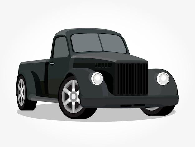 Detalhe de caminhão preto legal realista