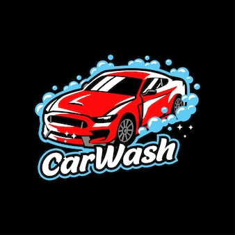 Detalhe de cera para limpeza de sabonete líquido de carro vermelho lavagem de carro