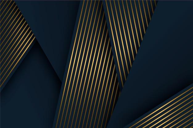 Detalhes de ouro no design de camadas de papel escuro
