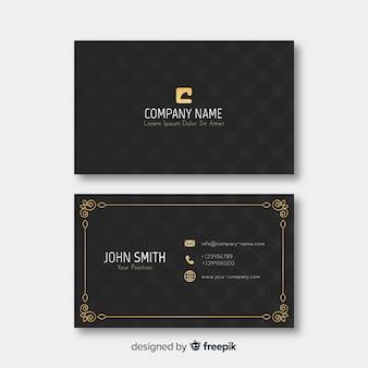 Detalhes dourados do modelo elegante do cartão