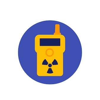 Detector de radiação, ícone de vetor de contador