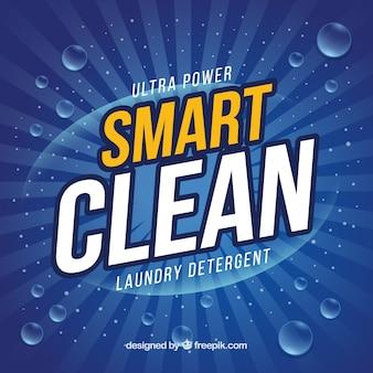 Detergente de roupa azul