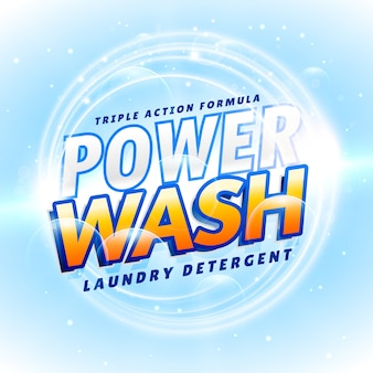 Detergente e produto de limpeza embalagem conceito de design criativo