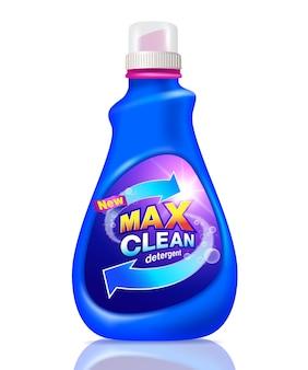 Detergente limpeza mock up design