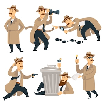 Detetive, homem, investigação