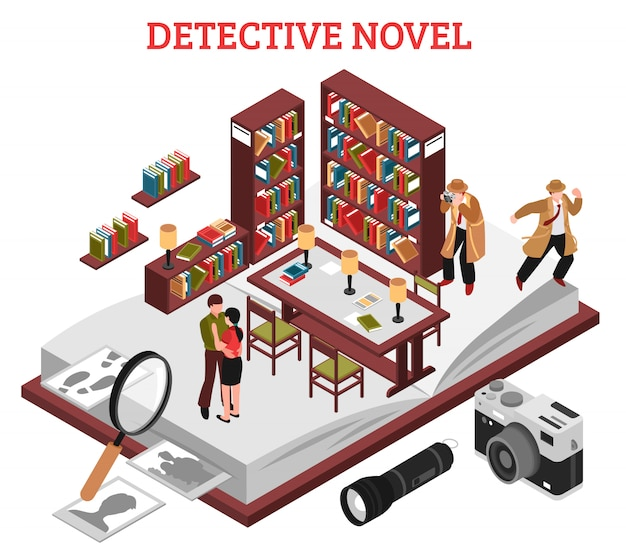 Detetive novel design concept