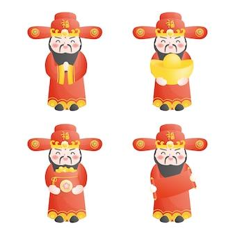 Deus chinês da riqueza. ano novo chinês.