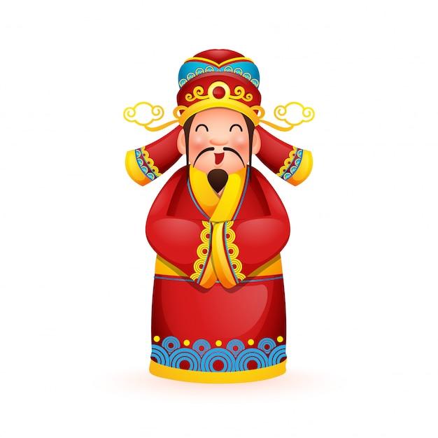 Deus chinês da riqueza.