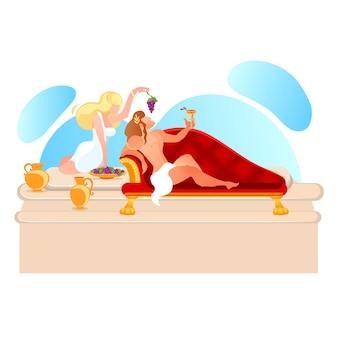 Deus de dionísio, vinho e mitologia da deusa ariadne