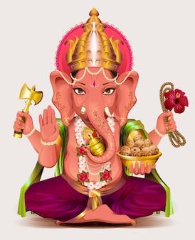 Deus indiano ganesha da sabedoria e da riqueza