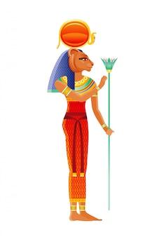 Deusa egípcia de sekhmet, divindade da leoa. deus egípcio antigo