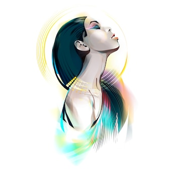 Deusa egípcia. retrato de uma mulher